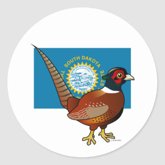 State Birdorable of South Dakota: Common Pheasant Classic Round Sticker