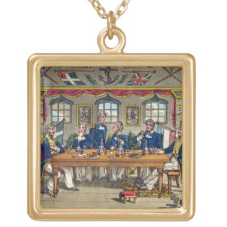 State Cabin, Newcome's Exit after Dinner, plate fr Gold Plated Necklace