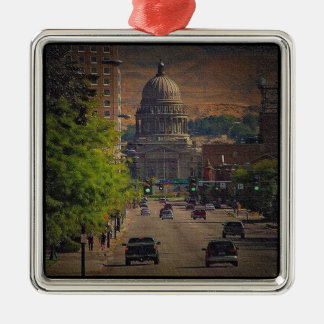 State Capital  in Boise, Idaho Christmas Ornament