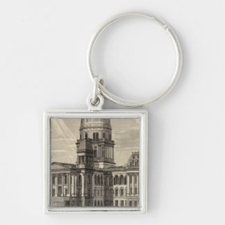State Capitol building Springfield Ill Keychains