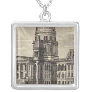 State Capitol building, Springfield, Ill Silver Plated Necklace