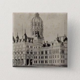 State Capitol, Hartford 15 Cm Square Badge
