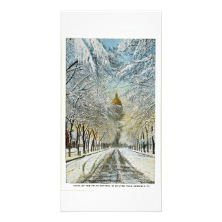 State Capitol in Winter, Denver, Colorado Personalised Photo Card