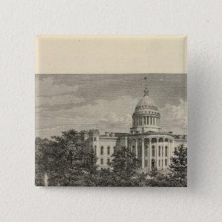 State Capitol, Madison, Wis 15 Cm Square Badge