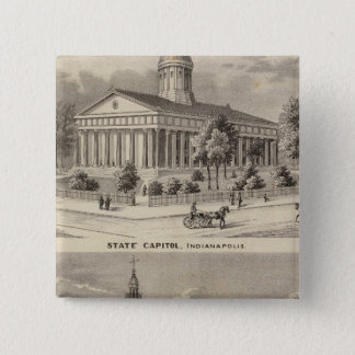 State Capitol , Marion County Court House 15 Cm Square Badge