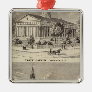 State Capitol , Marion County Court House Christmas Ornament