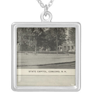 State Capitol, NH State Bldg, Columbian Exposition Silver Plated Necklace