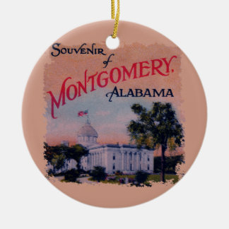 State Capitol of Alabama Christmas Ornament