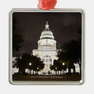 State Capitol of Austin, Texas at Night Christmas Ornament