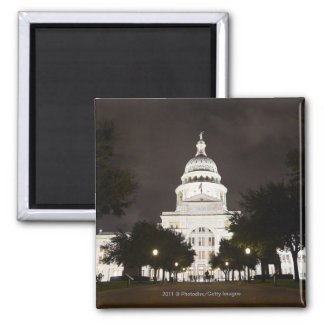 State Capitol of Austin, Texas at Night Magnet