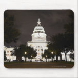 State Capitol of Austin, Texas at Night Mouse Pads