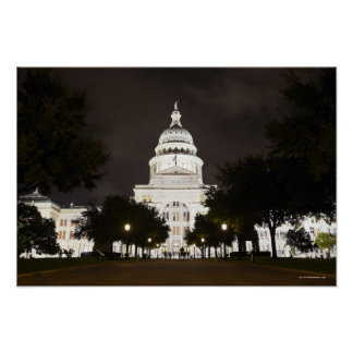 State Capitol of Austin, Texas at Night Posters