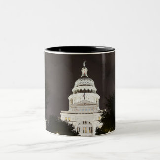 State Capitol of Austin, Texas at Night Two-Tone Coffee Mug