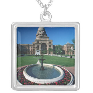 'State Capitol of Texas, Austin' Silver Plated Necklace