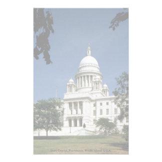 State Capitol, Providence, Rhode Island, U.S.A. Custom Stationery