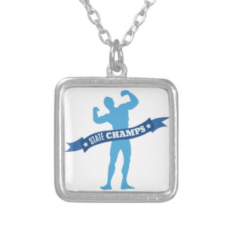 State Champs Square Pendant Necklace