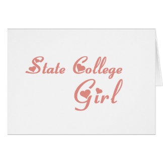 State College Girl tee shirts Cards