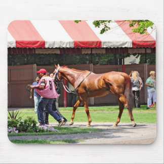 State Flag in the Saratoga Paddock Mousepad