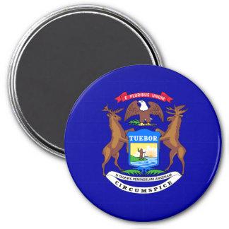 state-flag-Michigan 7.5 Cm Round Magnet