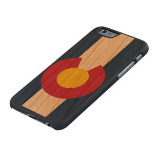State Flag of Colorado Carved Cherry iPhone 6 Case