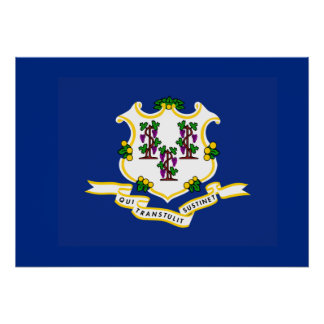 State Flag of Connecticut Poster