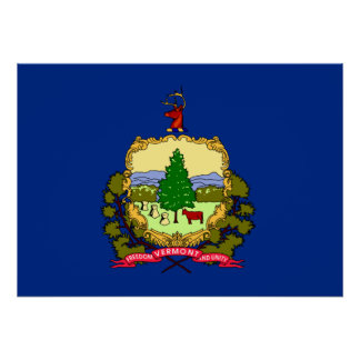 State Flag of Vermont Poster