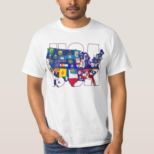 State flag USA United States flag Map T-Shirt