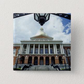 State House Capitol Building, Boston, MA, USA 15 Cm Square Badge