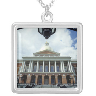 State House Capitol Building, Boston, MA, USA Silver Plated Necklace