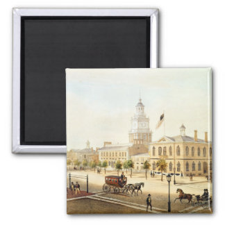 State House, Philadelphia, engraved by Deroy Magnet