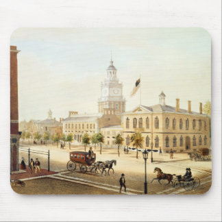 State House, Philadelphia, engraved by Deroy Mouse Mat