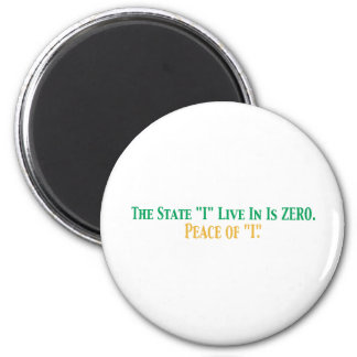 State I live in 6 Cm Round Magnet