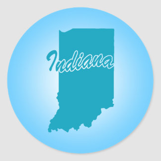 State Indiana Classic Round Sticker