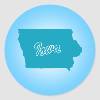 State Iowa Classic Round Sticker