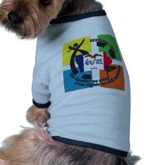 STATE  IOWA GEOCACHER RINGER DOG SHIRT