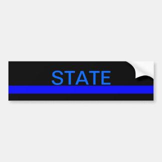 State LEO bumper sticker