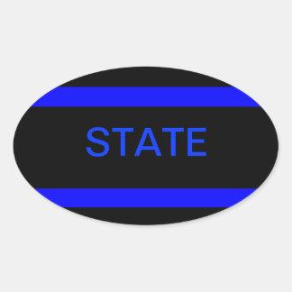 State LEO sticker