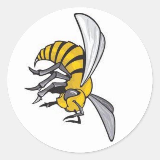 state logo classic round sticker