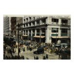 State & Madison Sts., Chicago IL, 1922 Vintage Poster
