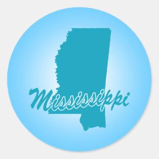 State Mississippi Round Sticker