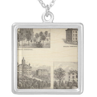 State normal schools and State University Silver Plated Necklace