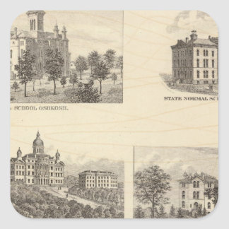 State normal schools and State University Square Sticker
