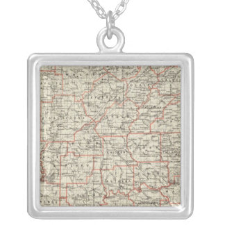 State of Alabama Silver Plated Necklace