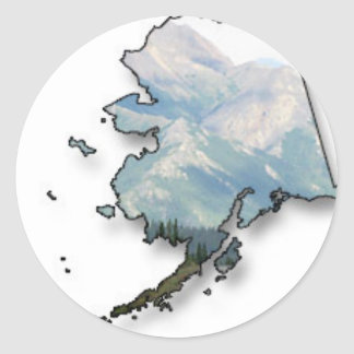 State of Alaska Round Sticker