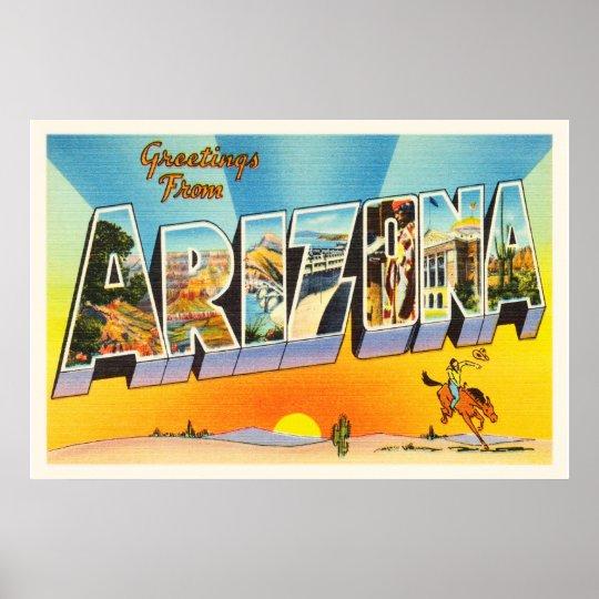 State of Arizona AZ Old Vintage Travel Souvenir