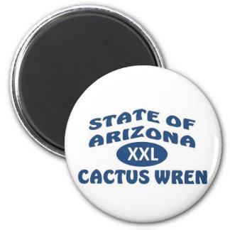 State of Arizona XXL Cactus Wren Refrigerator Magnet