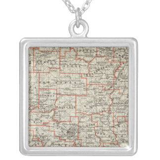 State of Arkansas Silver Plated Necklace