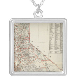 State of California 2 Silver Plated Necklace