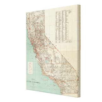 State of California Canvas Print