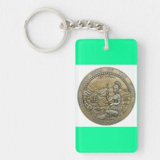 state of california Single-Sided rectangular acrylic key ring